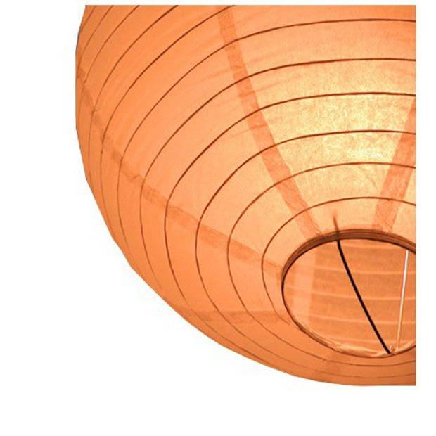 Luxe bol lampion oranje 25 cm