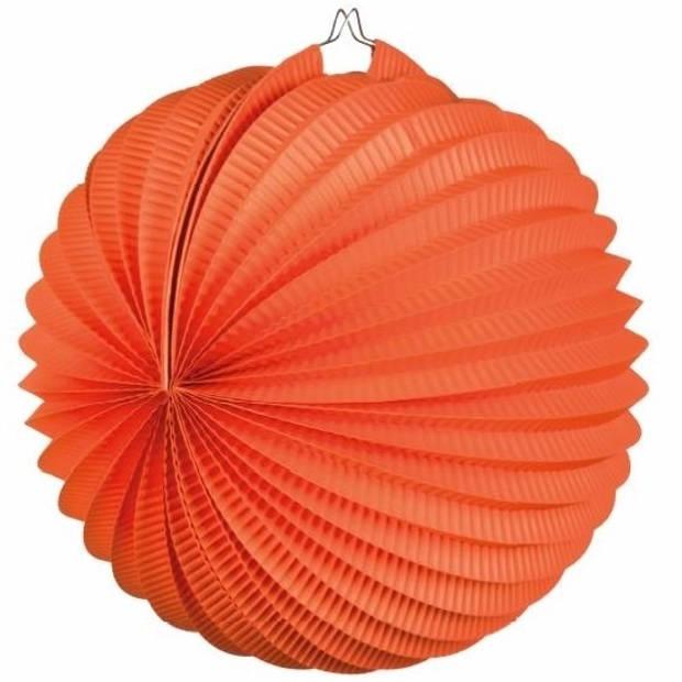 Lampion oranje 22 cm