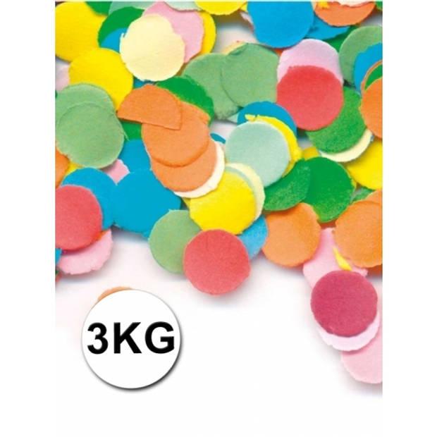 Luxe confetti 3 kilo multicolor brandvertragend