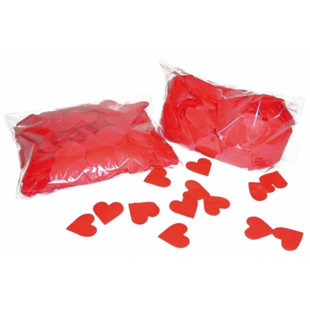 Hartjes papier confetti 250 gram - Feestdecoratie- tafeldecoratie-valentijn/trouwdecoratie