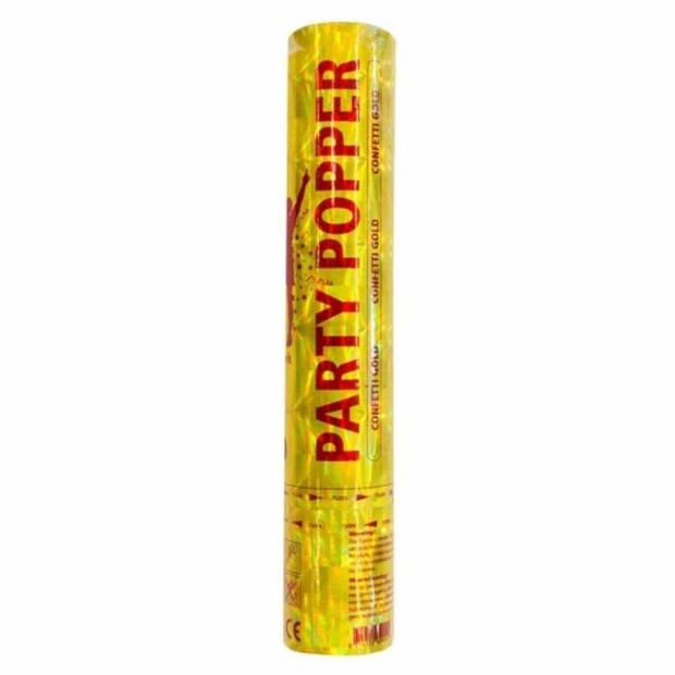 10 confetti kanonnen goud 28 cm