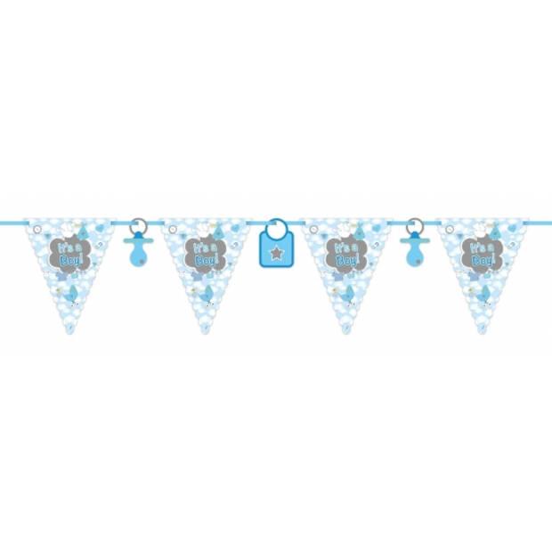 Vlaggenlijnen geboorte jongen thema 6 meter - Feestartikelen/versieringen