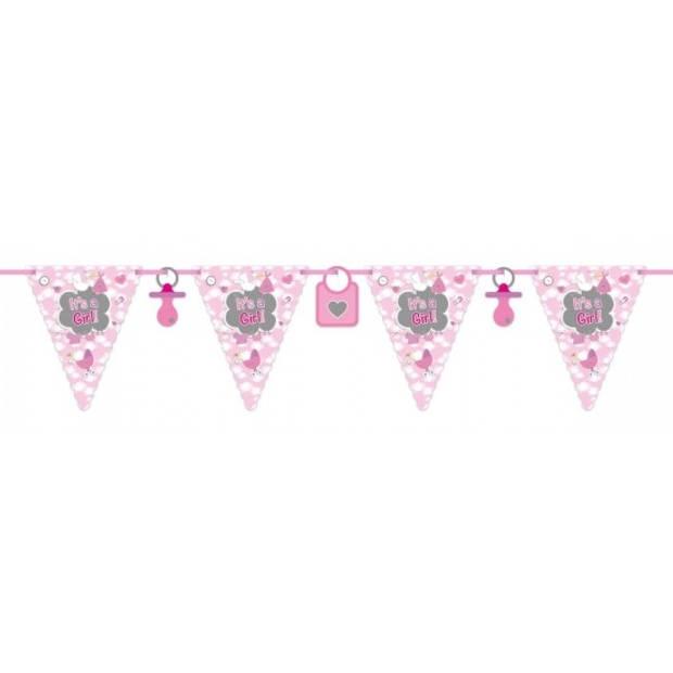 Vlaggenlijn geboorte meisje 6 meter