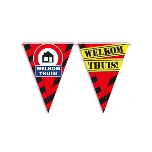 Welkom thuis vlaggenlijn waarschuwingsbord 10mtr
