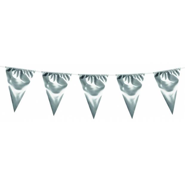 XL vlaggenlijnen metallic zilver 10 meter