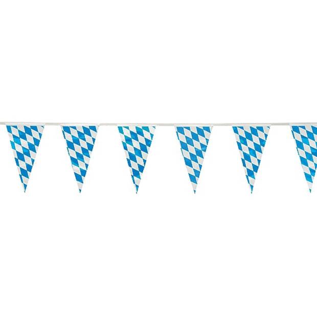Oktoberfest Plastic Beieren vlaggenlijn 10 meter