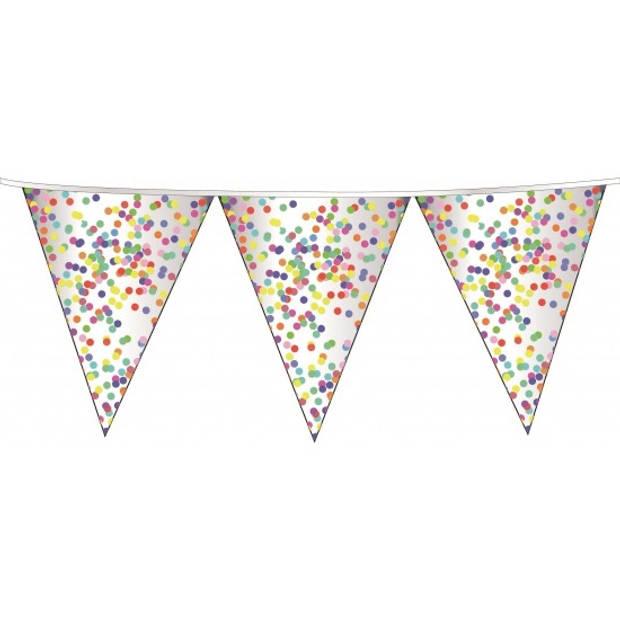 Confetti party thema vlaggenlijn 10 meter