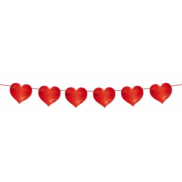 Slinger rode hartjes 6 meter valentijn en bruiloft versiering