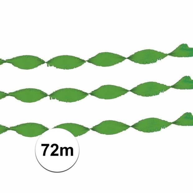 Feest of verjaardag versiering slinger groen 24 m