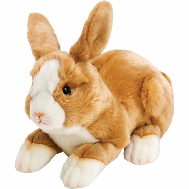 Pluche knuffel konijn/haas lichtbruin 35 cm