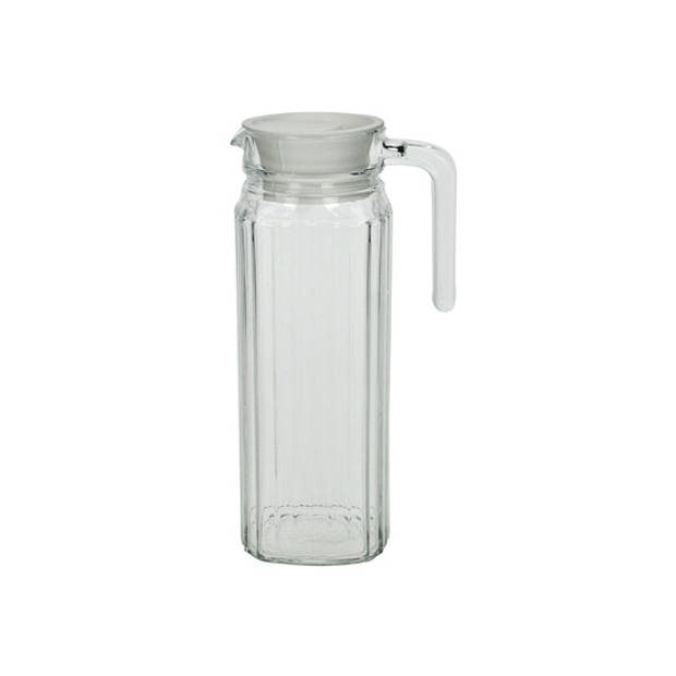 Lange glazen karaf met handvat 1,1 L