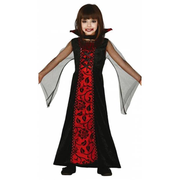 Rode vampieren jurk voor meisjes 140-152 (10-12 jaar)