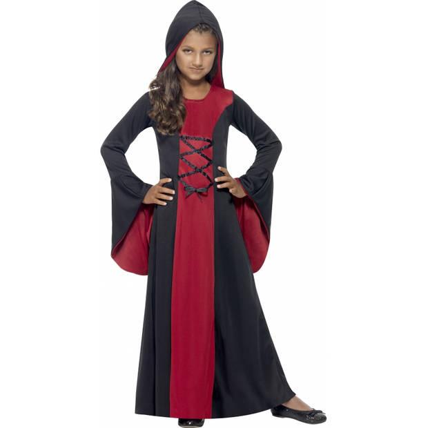 Vampier mantel voor meiden 145-158 (10-12 jaar)