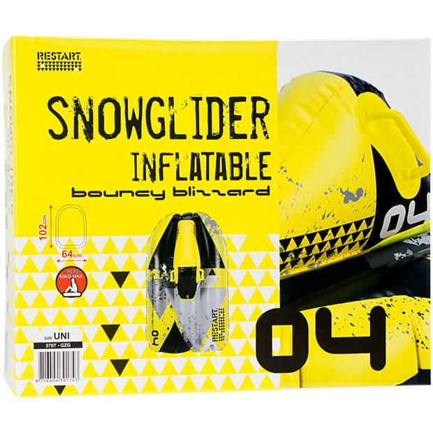 Restart Opblaasbare sneeuwglijder Bouncy Blizzard 102 cm geel