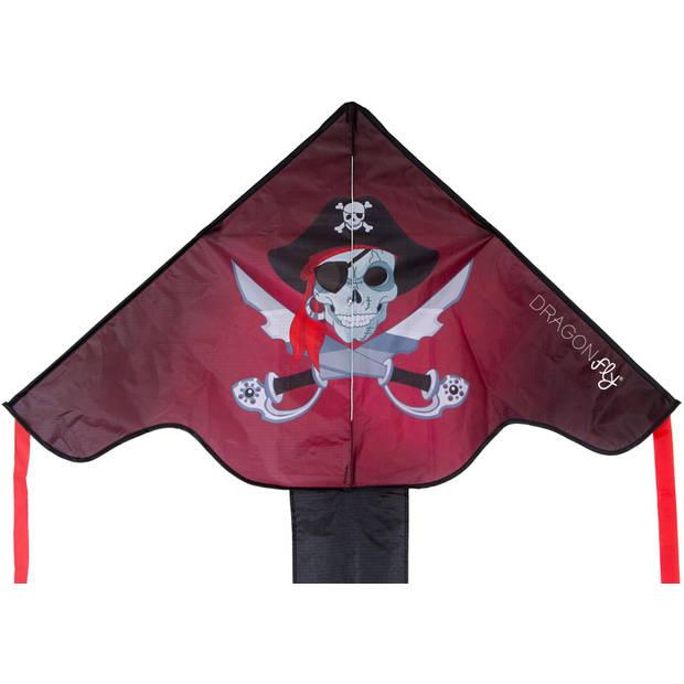 Dragon Fly Staartvlieger Piraat 102 x 202 cm zwart