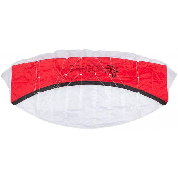 Dragon Fly Parachutevlieger Kona 160 rood/wit 160 x 65 cm