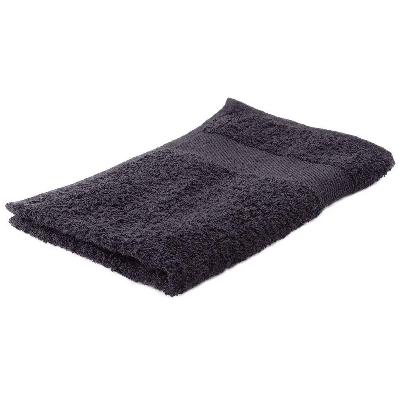 Korting Arowell Gastendoek Gastenhanddoek 50 X 30 Cm 500 Gram Zwart 1 Stuks