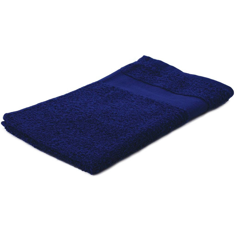Korting Arowell Gastendoek Gastenhanddoek 50 X 30 Cm 500 Gram Donkerblauw 1 Stuks