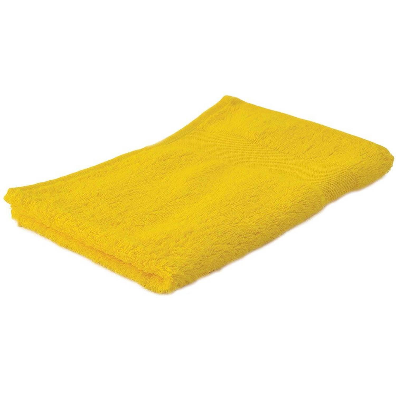 Korting Arowell Gastendoek Gastenhanddoek 50 X 30 Cm 500 Gram Geel 1 Stuks
