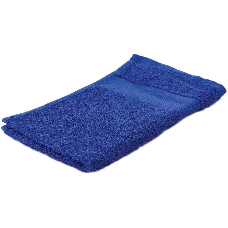 Korting Arowell Gastendoek Gastenhanddoek 50 X 30 Cm 500 Gram Kobaltblauw 1 Stuks