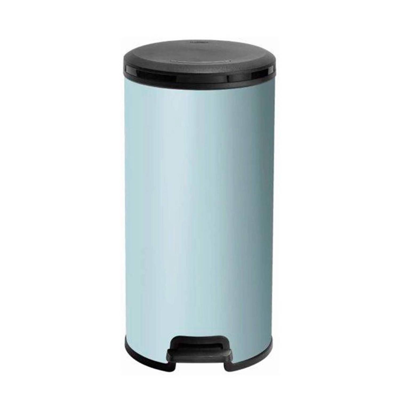 Pedaalemmer Aanbieding Blokker.Curver Decobin Pedaalemmer Rond 30 Liter Misty Blue