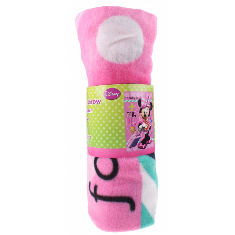 Toi-Toys fleecedeken Minnie Mouse 100 x 150 cm roze