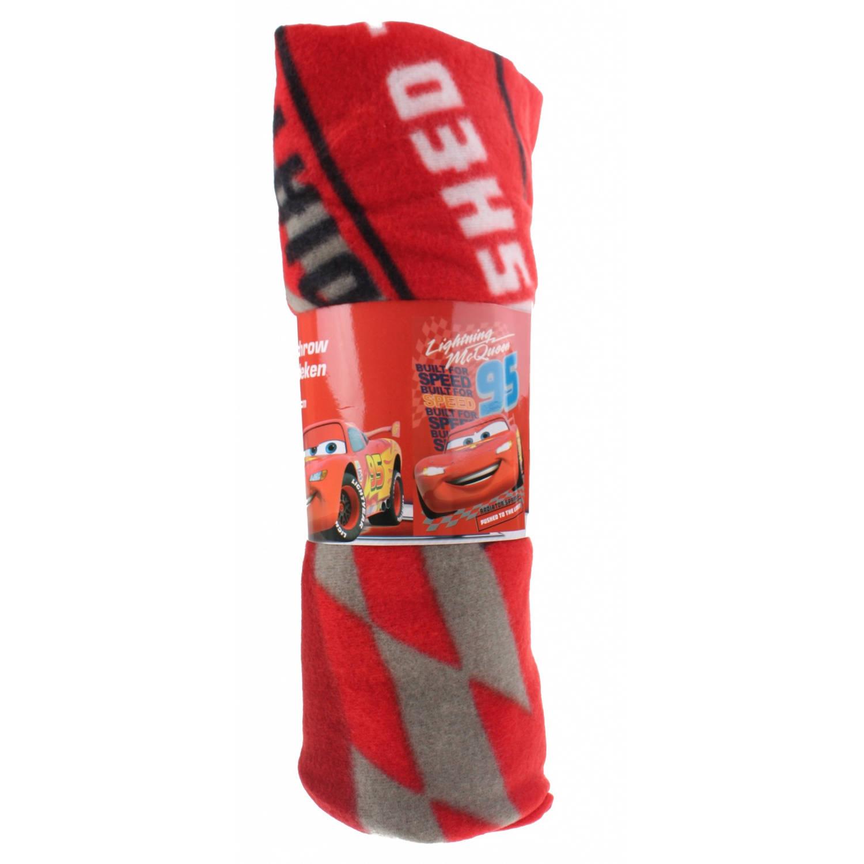 Toi-Toys fleecedeken Cars 100 x 150 cm rood