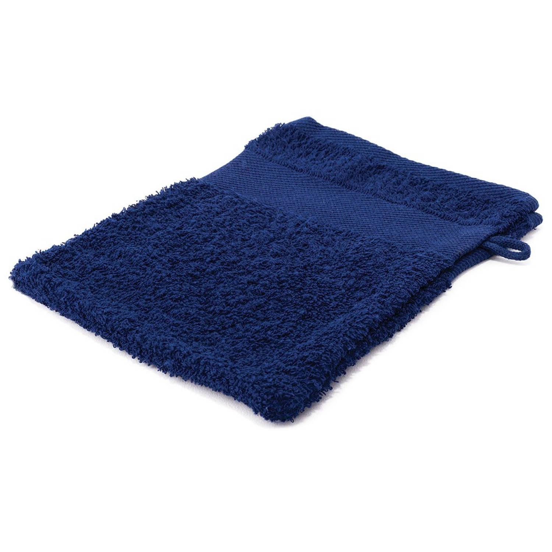 Korting Arowell Washand Washandje 21 X 16 Cm 500 Gram Donkerblauw 1 Stuks