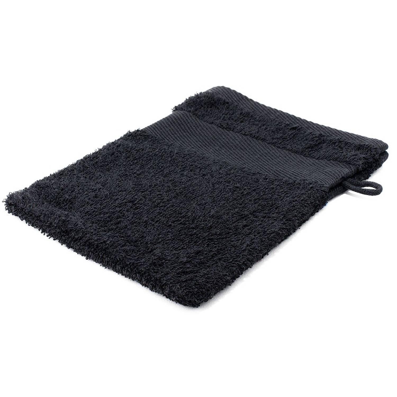 Korting Arowell Washand Washandje 21 X 16 Cm 500 Gram Zwart 1 Stuks