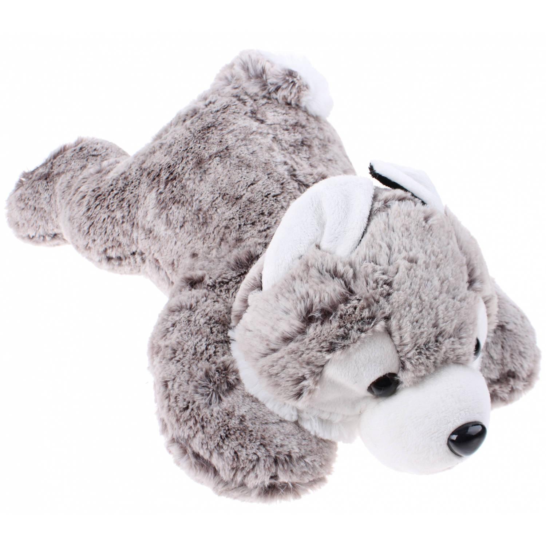 aab7a30cfced74 Eddy Toys knuffel hond husky grijs 19 cm | Blokker