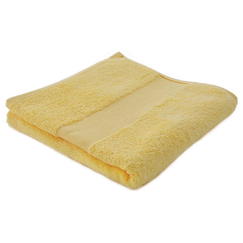 Afbeelding van Arowell badhanddoek badlaken 100 x 50 cm - 500 gram - crème geel - 5 stuks