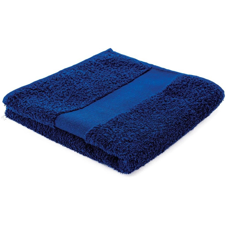 Afbeelding van Arowell badhanddoek badlaken 100 x 50 cm - 500 gram - donkerblauw - 5 stuks