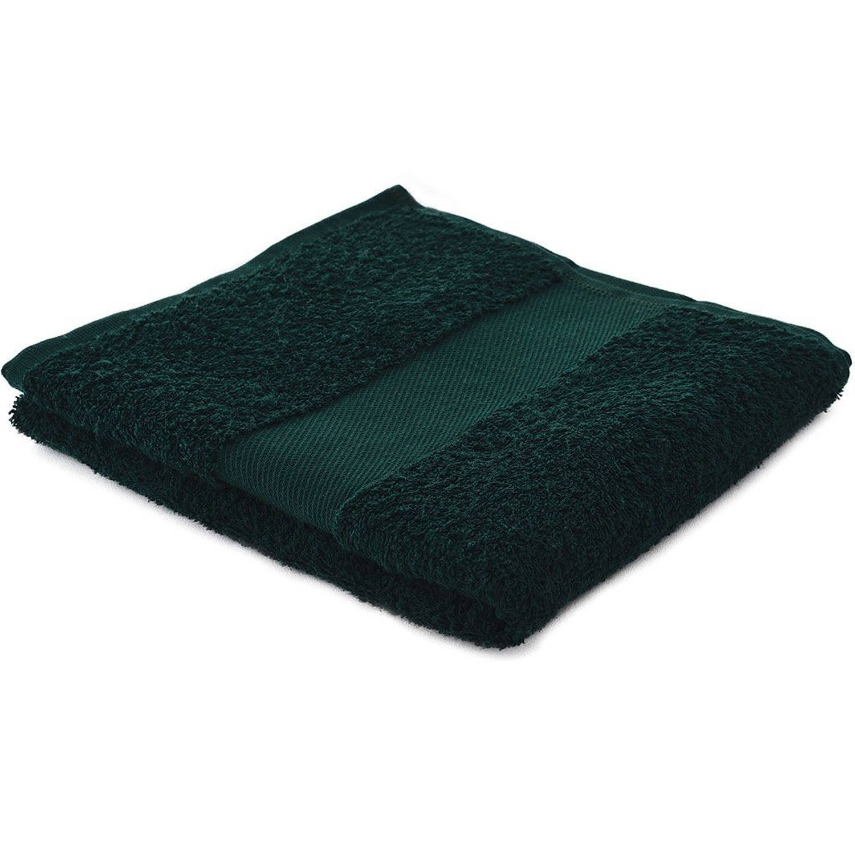 Afbeelding van Arowell badhanddoek badlaken 100 x 50 cm - 500 gram - donkergroen - 5 stuks