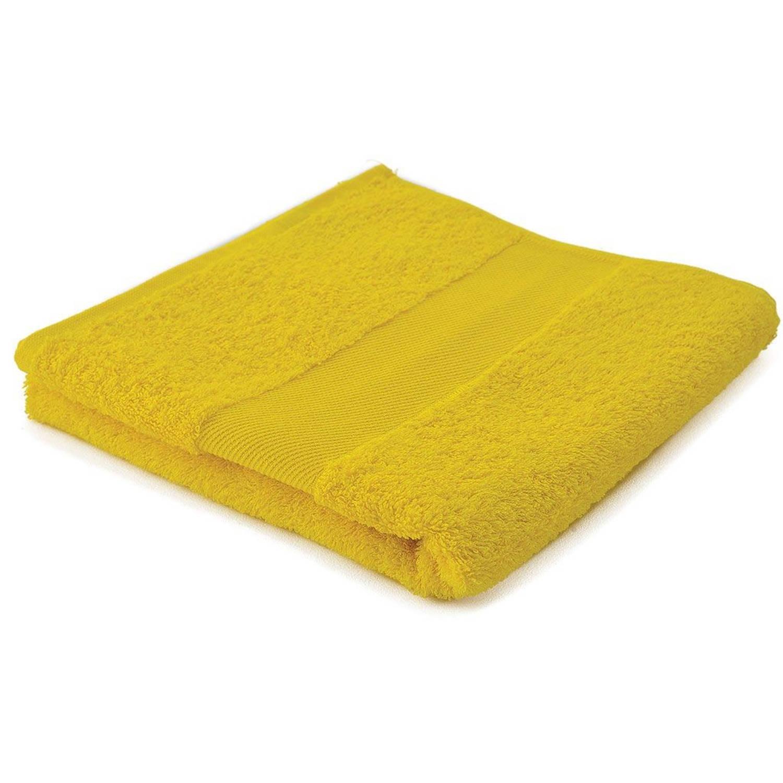 Afbeelding van Arowell badhanddoek badlaken 100 x 50 cm - 500 gram - geel - 5 stuks