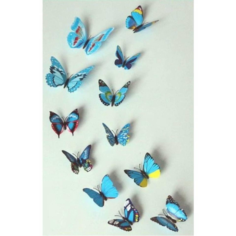 Premium 3d vlinders muursticker-muurdecoratie voor kinderkamer-babykamer-slaapkamer vlinder sticker