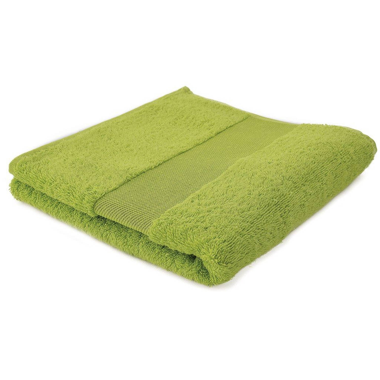 Arowell badhanddoek badlaken 100 x 50 cm - 500 gram - lichtgroen - 10 stuks