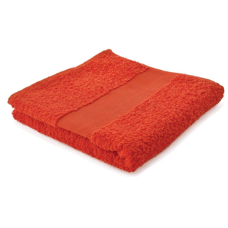 Afbeelding van Arowell badhanddoek badlaken 100 x 50 cm - 500 gram - oranje - 10 stuks