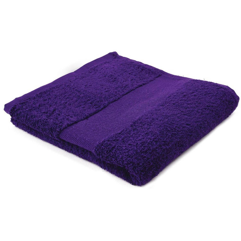 Afbeelding van Arowell badhanddoek badlaken 100 x 50 cm - 500 gram - paars - 10 stuks