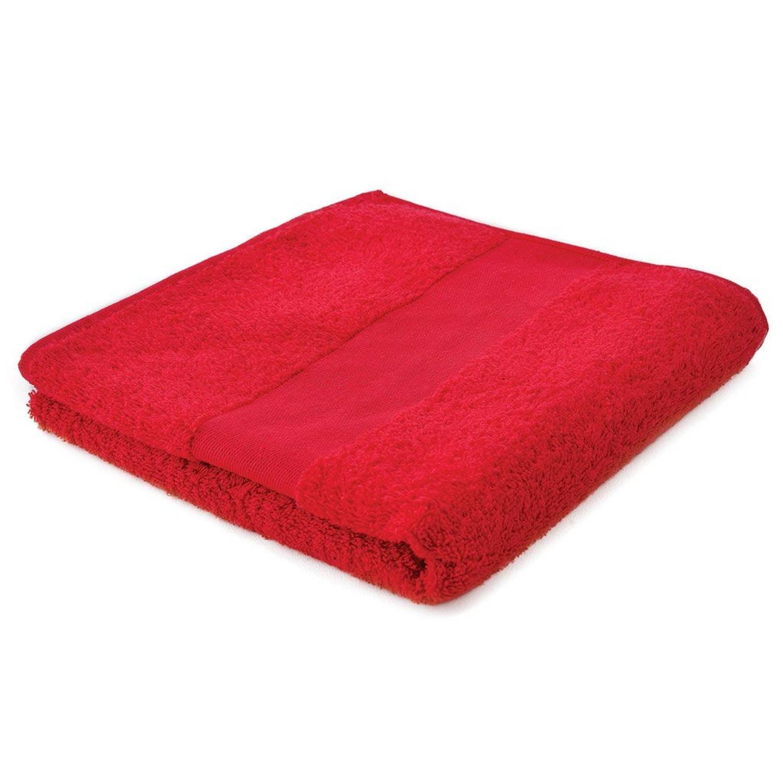 Afbeelding van Arowell badhanddoek badlaken 100 x 50 cm - 500 gram - rood - 10 stuks