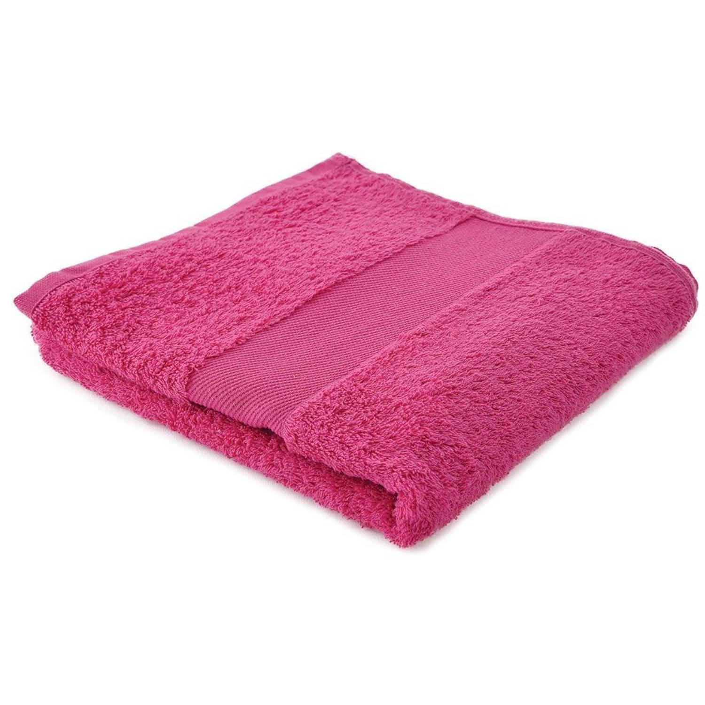 Afbeelding van Arowell badhanddoek badlaken 100 x 50 cm - 500 gram - roze - 10 stuks