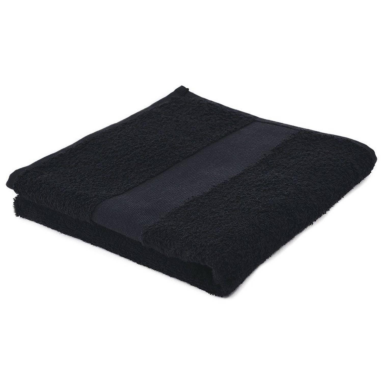 Afbeelding van Arowell badhanddoek badlaken 100 x 50 cm - 500 gram - zwart - 10 stuks