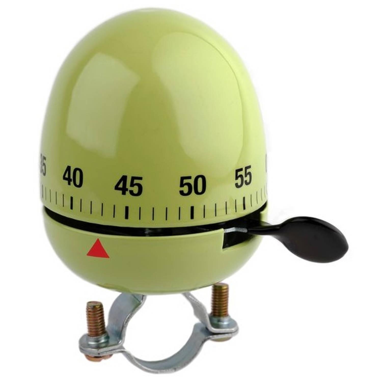 Niet Verkeerd fietsbel ei kookwekker 60 mm groen