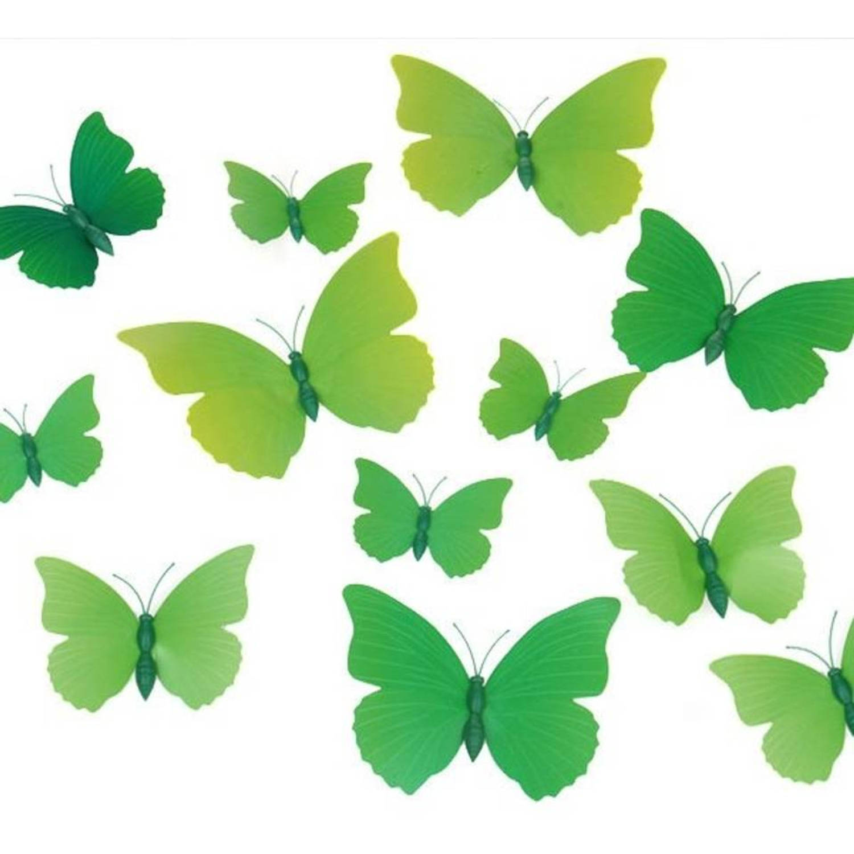 Premium 3d vlinders muursticker-muurdecoratie voor kinderkamer -