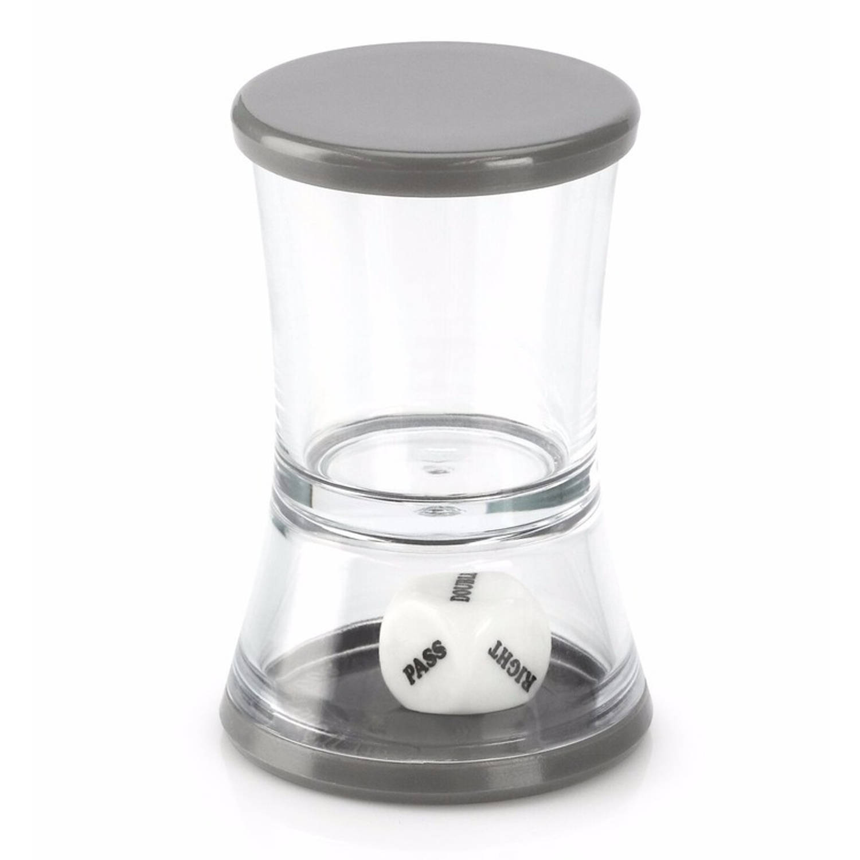 Shotglas met dobbelsteen drankspel