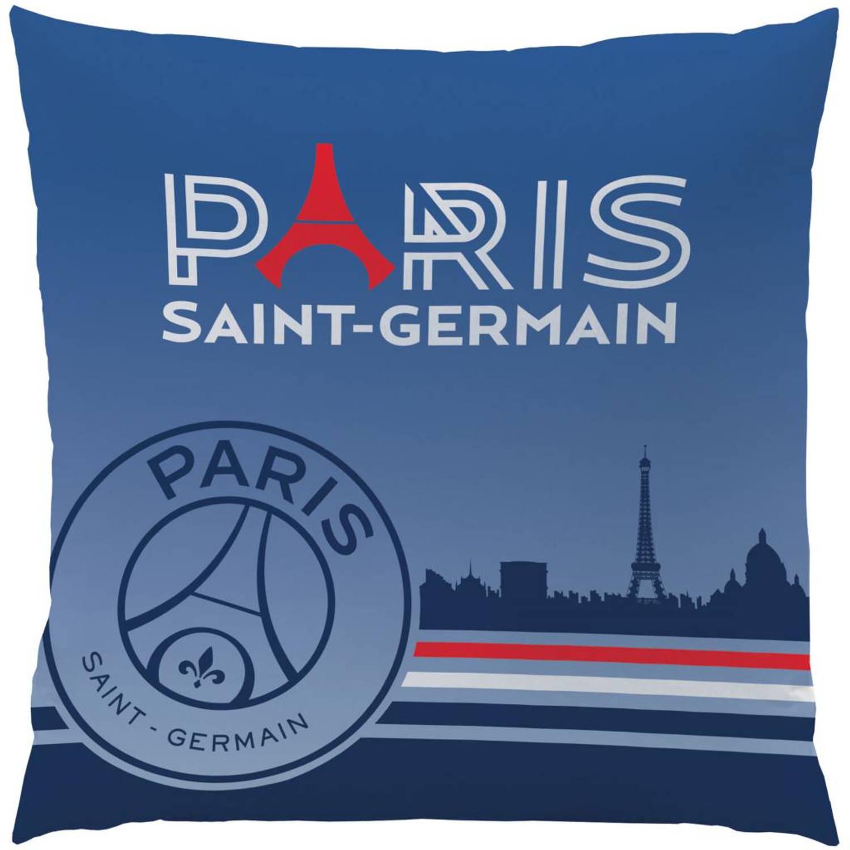 Paris saint germain eiffel toren - sierkussen - 40 x 40 cm - blauw