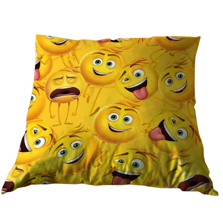 Emoji kussen Emoji de film 35 x 35 cm geel