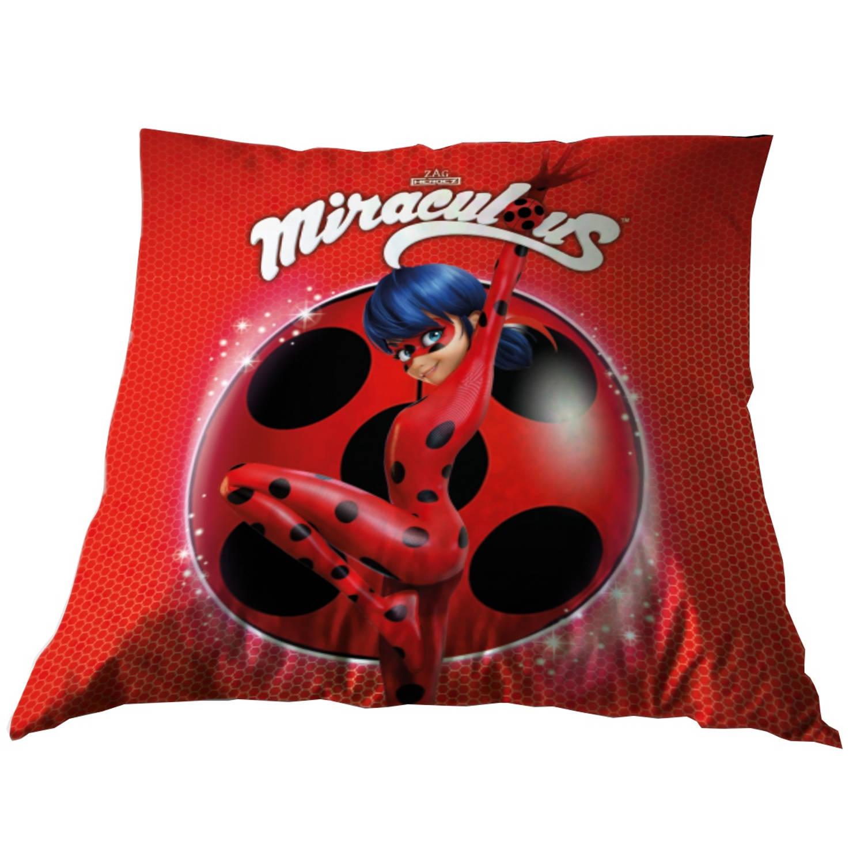 Miraculous kussen Ladybug 35 x 35 cm rood