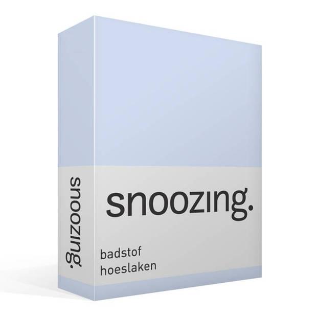 Snoozing badstof hoeslaken - 80% katoen - 20% polyester - Lits-jumeaux (160x210/220 of 180x200 cm) - Hemel