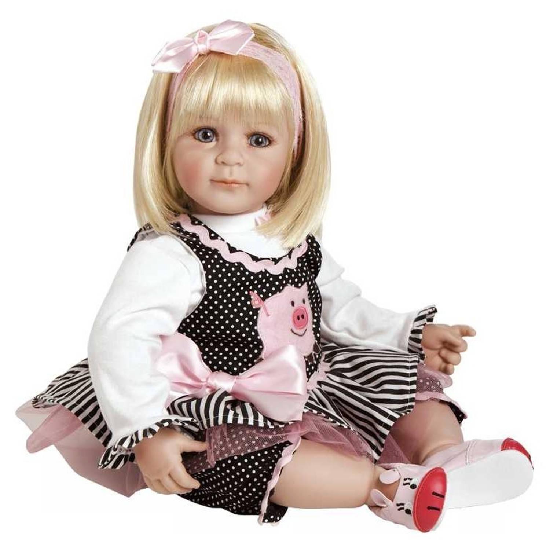 Afbeelding van Adora toddler time baby oink roze/zwart meisjes 51 cm