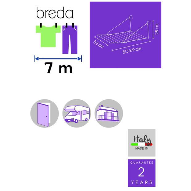Tomado Breda hangdroogrek - 7 meter drooglengte